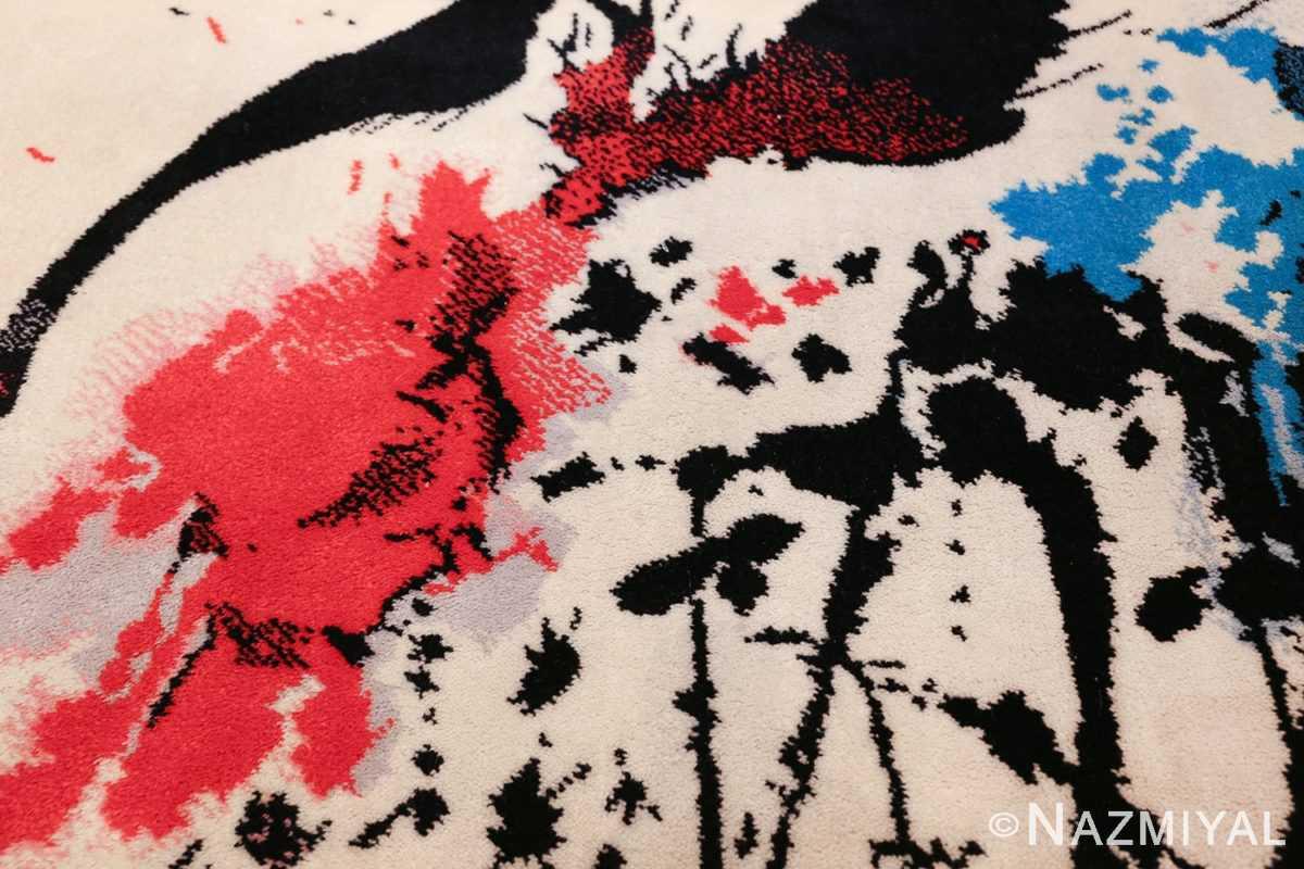 vintage scandinavian ege art line robert jacobsen rug 49670 red Nazmiyal