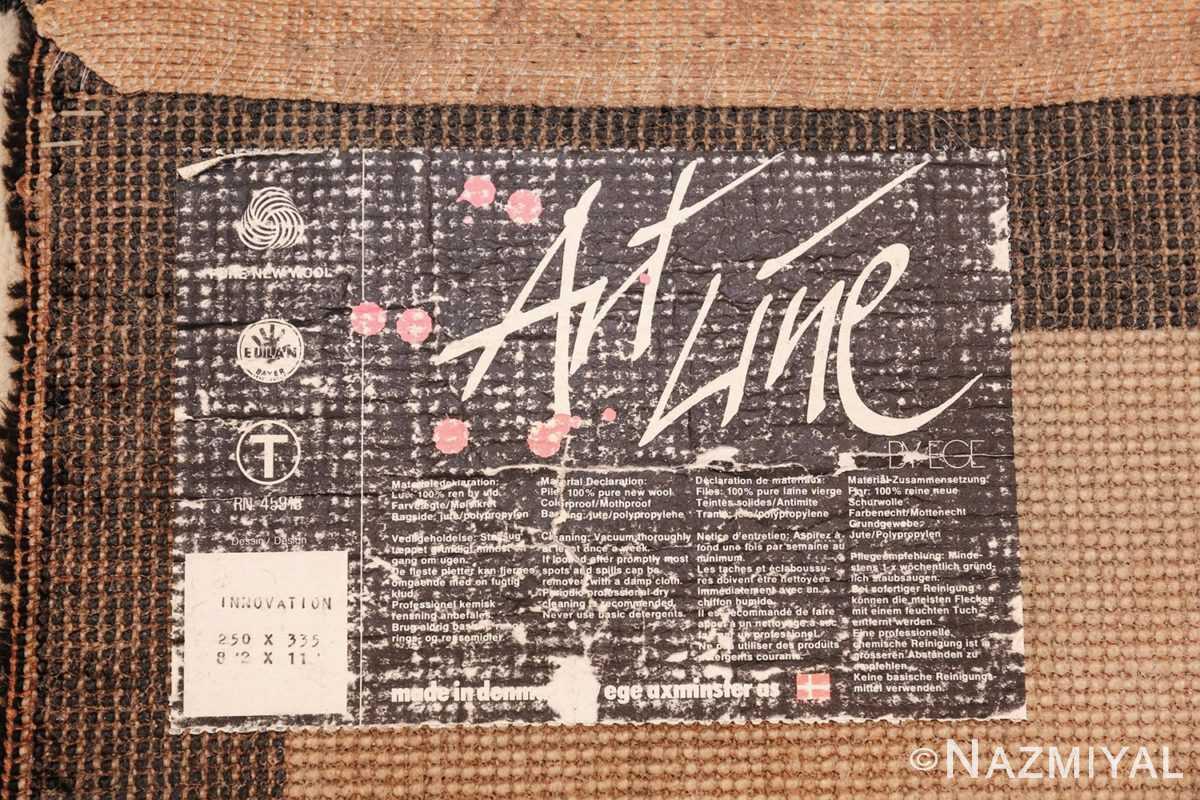 vintage scandinavian ege art line robert jacobsen rug 49670 tag Nazmiyal