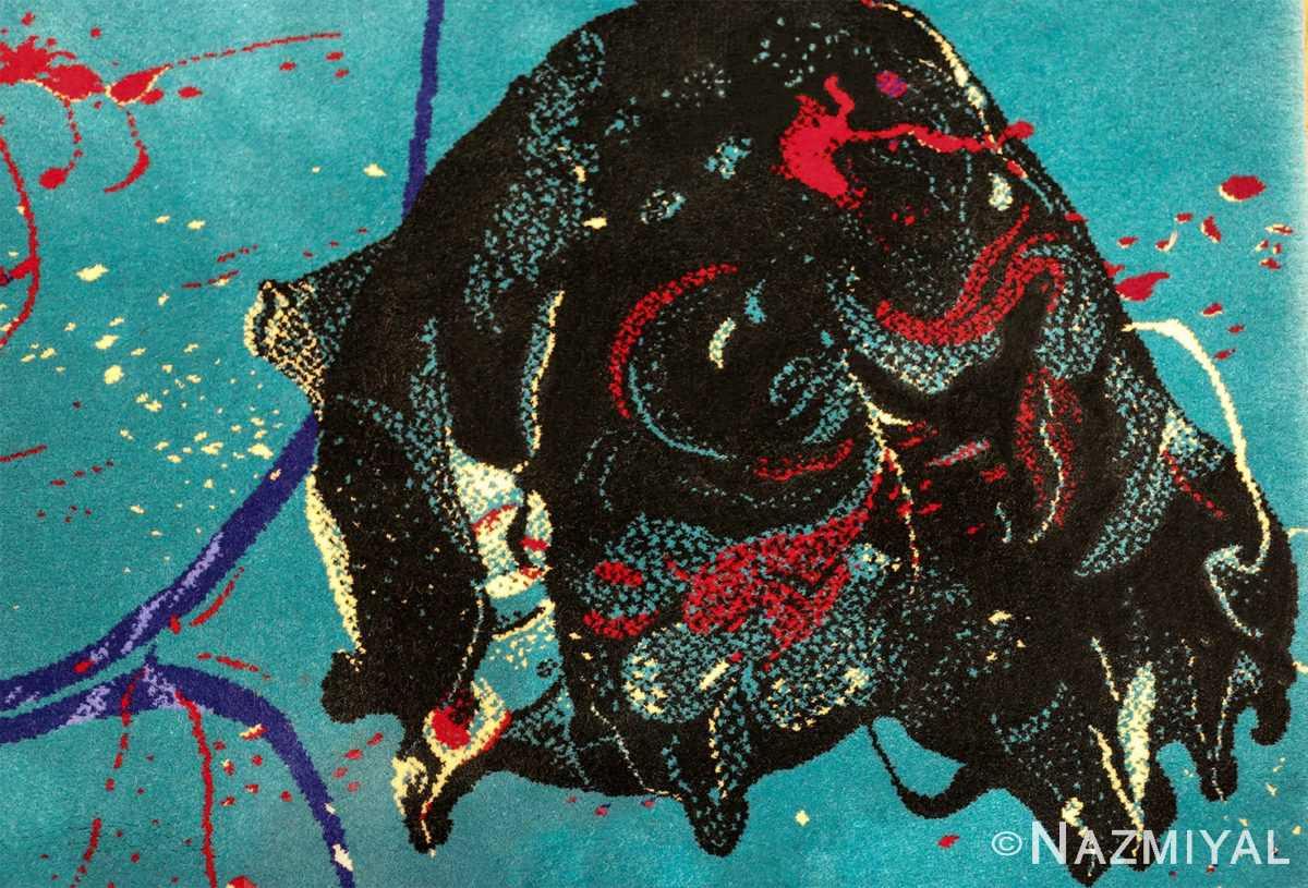 vintage scandinavian rug by sam francis 49703 black Nazmiyal