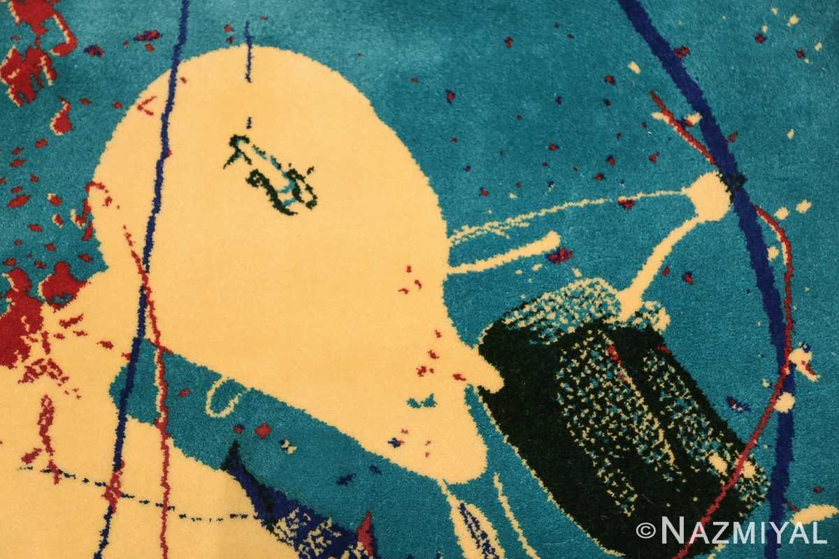 vintage scandinavian rug by sam francis 49703 drinking Nazmiyal