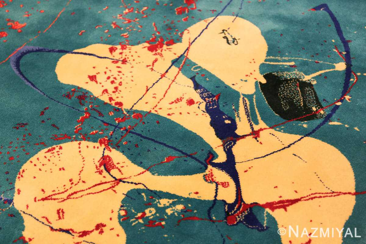 vintage scandinavian rug by sam francis 49703 man Nazmiyal