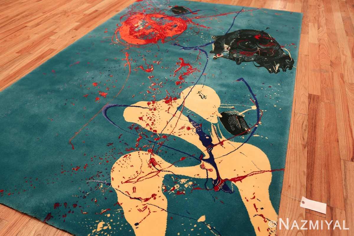 vintage scandinavian rug by sam francis 49703 side Nazmiyal