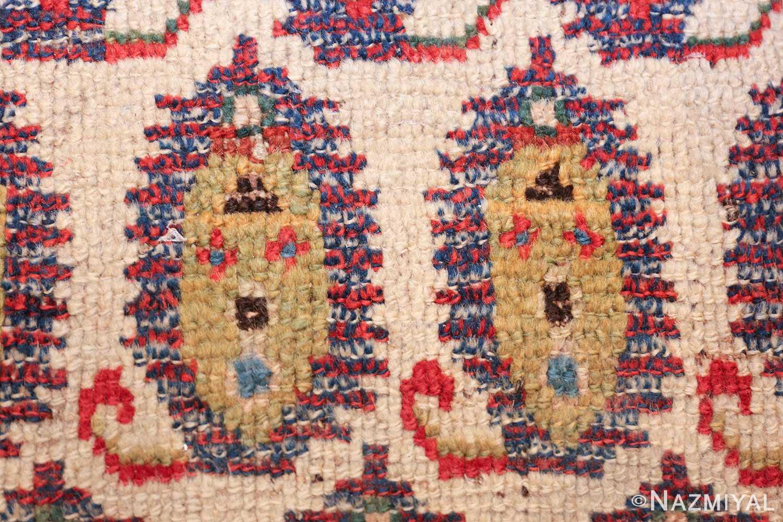 wide hallway antique tribal persian gashgai runner rug 49425 closeup Nazmiyal
