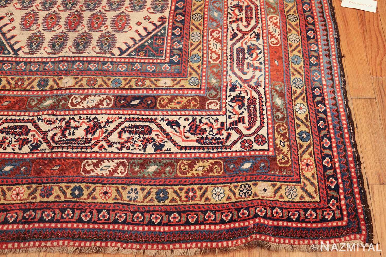 wide hallway antique tribal persian gashgai runner rug 49425 corner Nazmiyal