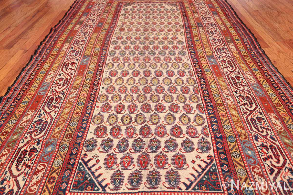 wide hallway antique tribal persian gashgai runner rug 49425 field Nazmiyal