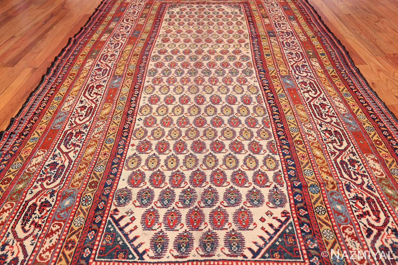 wide hallway antique tribal persian gashgai runner rug 49425 field Nazmiyal