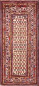 Wide Hallway Antique Tribal Persian Qashqai Runner Rug 49425 by Nazmiyal