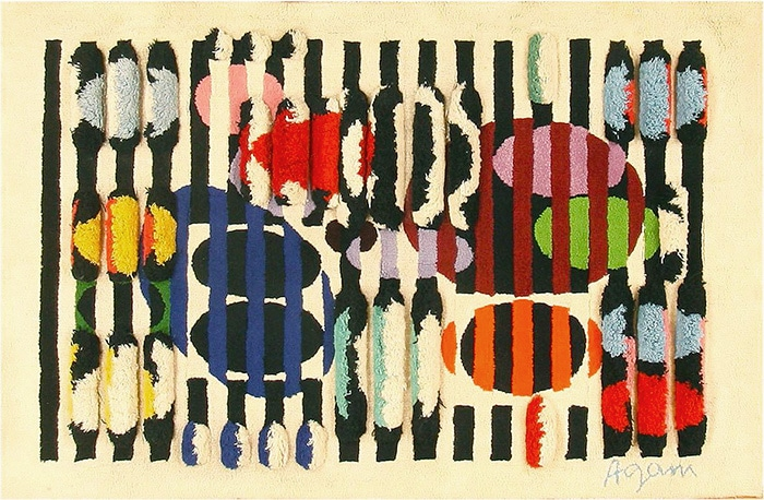 Modern Art Rug By Yaacov Agam #42736 by Namziyal