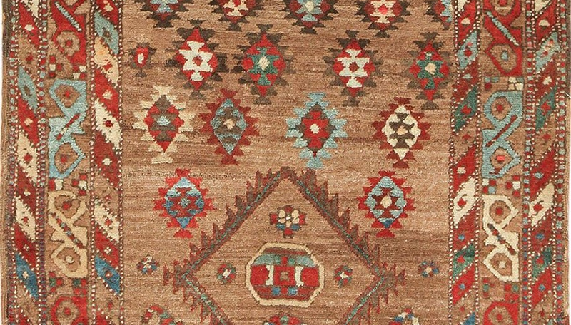 Antique Tribal Oriental Rug 49712 With Striated Color Abrash by Nazmiyal
