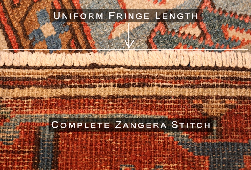 Fixed Zangera Stitch and Evened Out Fringe - Nazmiyal