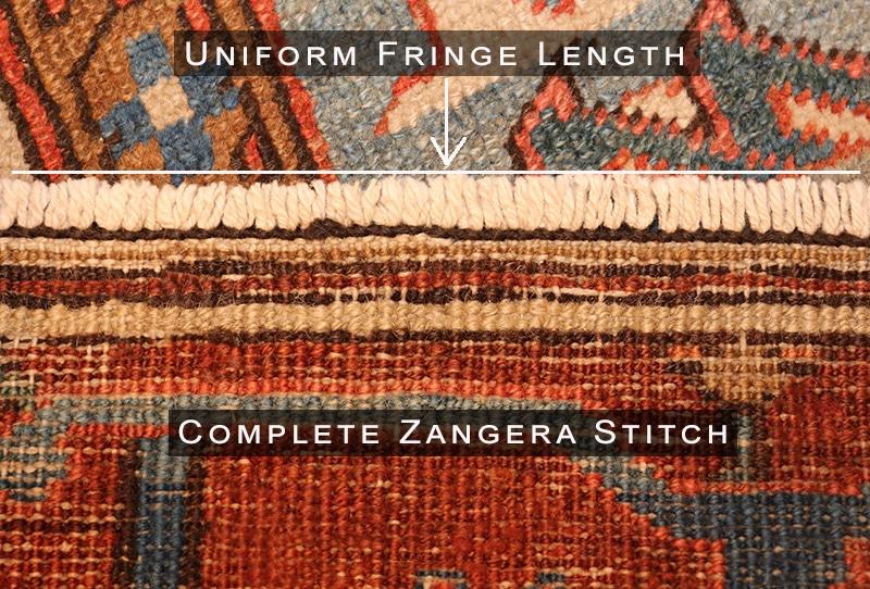 Fixed Zangera Stitch and Evened Out Fringe - Nazmiyal