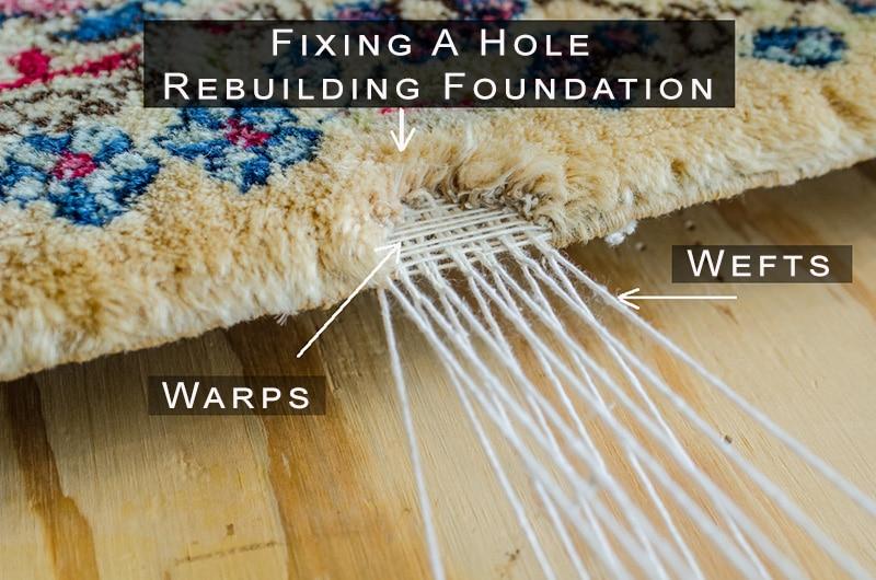 Fixing Rug Hole - Building New Foundation - Nazmiyal