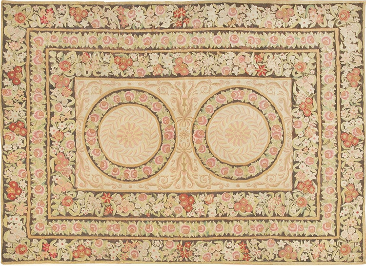 Beautiful Floral Bessarabian Flat Weave Kilim Rug 44219 by Nazmiyal