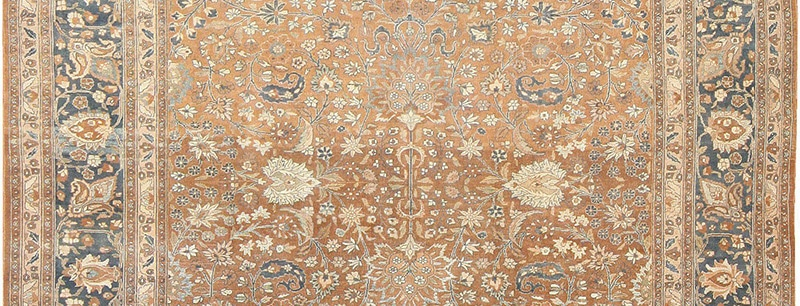 Oriental Oversized Antique Persian Khorassan Carpet 47031 With Subtle Field Abrash by Nazmiyal