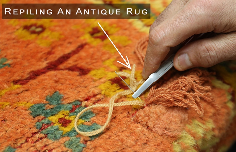 Repiling Rugs - Oriental carpet Restoration - NAzmiyal