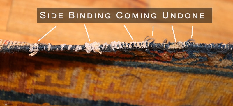 Rug Side Binding Coming Undone - Nazmiyal