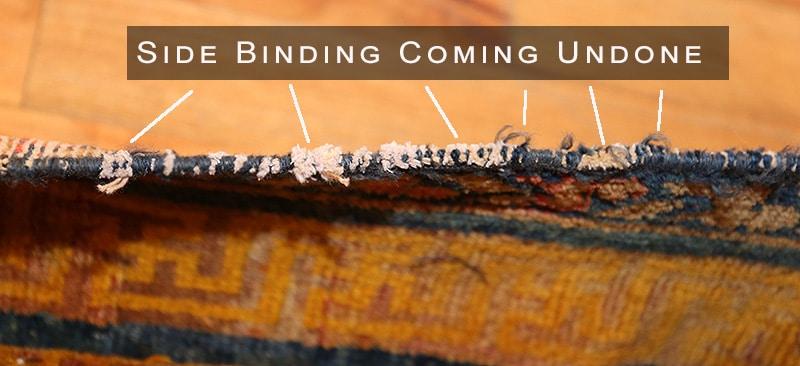 Rug Side Binding Coming Undone - Nazmiyal