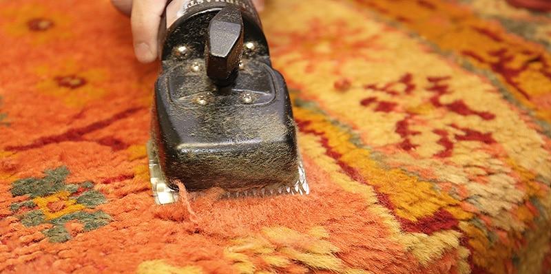 Shearing Wool Pile After Carpet Restoration - NAzmiyal