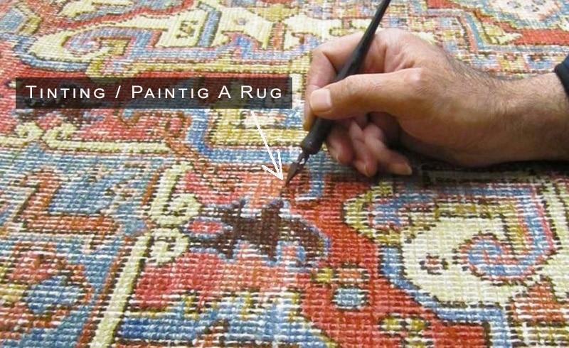 Tinting and Painting Rugs - Namziyal