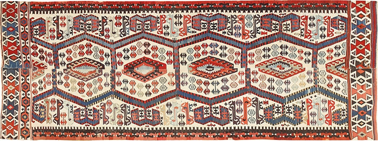 Tribal Antique 19th Century Flat Weave Turkish Kilim 48609 by Nazmiyal