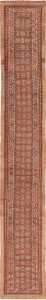 Tribal Long and Narrow Antique Persian Serab Runner Rug 49720 - Nazmiyal
