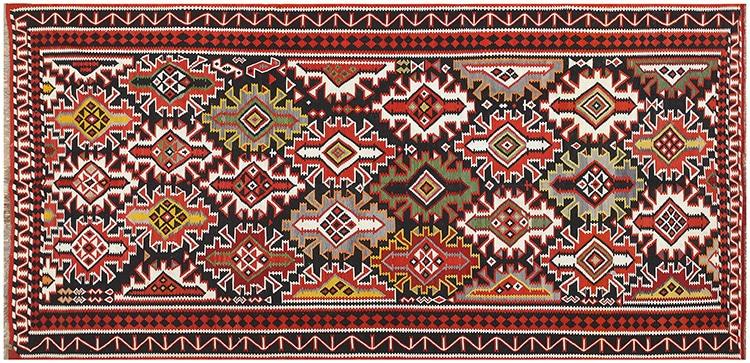 Vintage Caucasian Flat Weave Kilim Rug 50202 by Nazmiyal