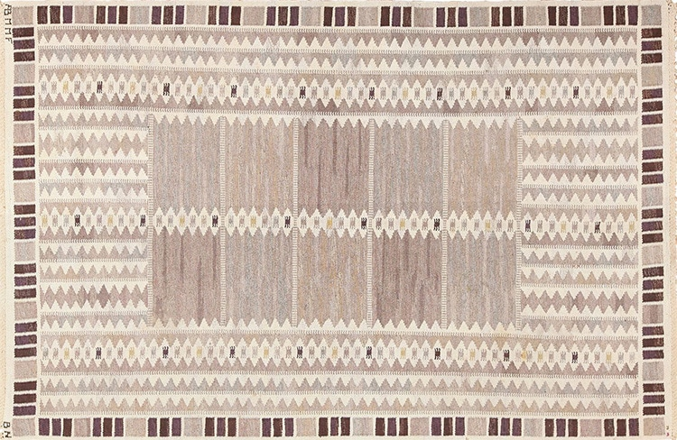 Vintage Mid Century Flat Weave Scandinavian Kilim by Barbro Nilsson for Marta Maas 49571 by Nazmiyal