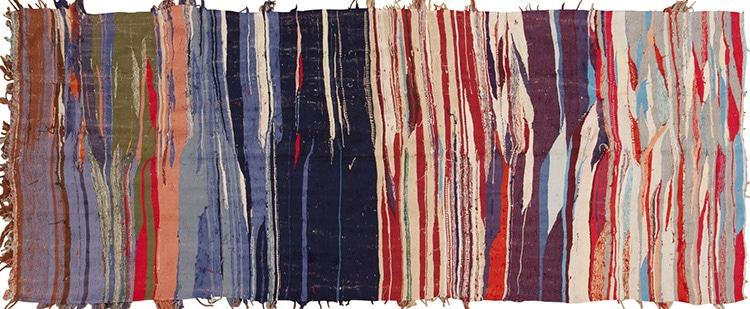 Vintage Flat Weave Moroccan Kilim Rug 45451 by Nazmiyal