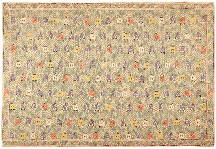 Large Vintage Marta Maas Scandinavian Flat Weave Kilim Rug 49029 by nazmiyal