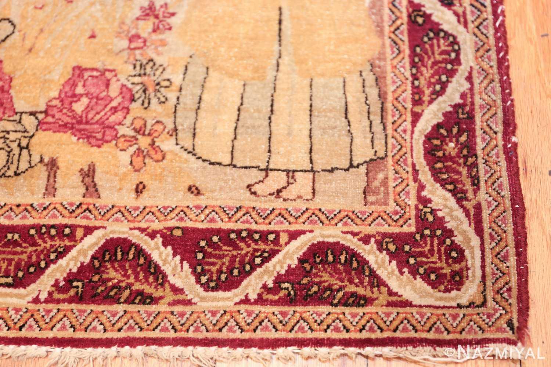 antique biblical persian kerman rug 49735 corner Nazmiyal