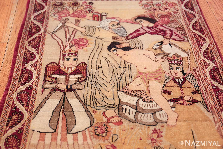 antique biblical persian kerman rug 49735 field Nazmiyal