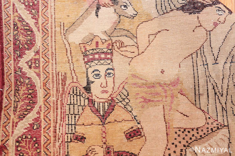 antique biblical persian kerman rug 49735 knots Nazmiyal