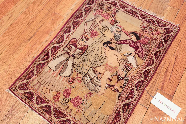 antique biblical persian kerman rug 49735 line Nazmiyal