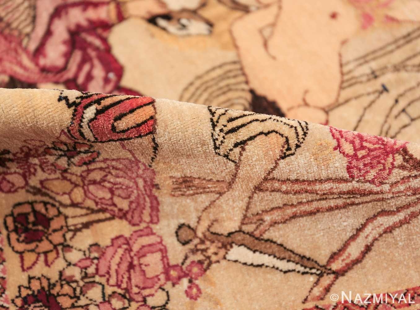 antique biblical persian kerman rug 49735 pile Nazmiyal