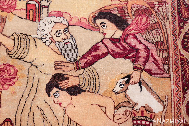 antique biblical persian kerman rug 49735 sheep Nazmiyal