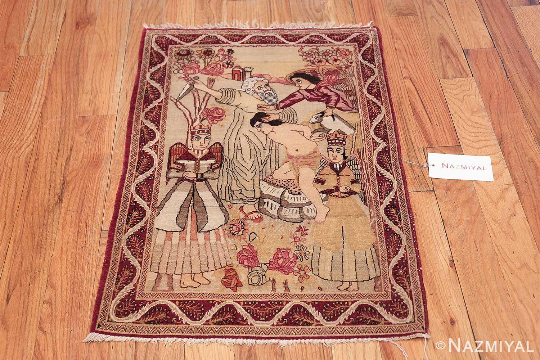 antique biblical persian kerman rug 49735 whole Nazmiyal
