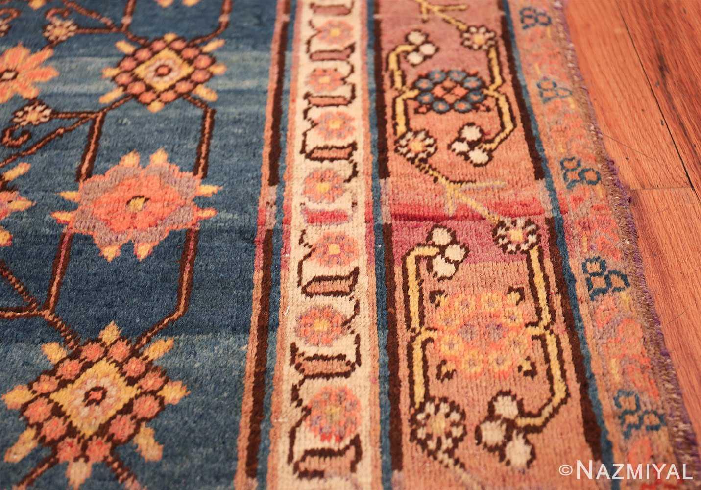 antique blue background east turkestan khotan rug 49674 border Nazmiyal