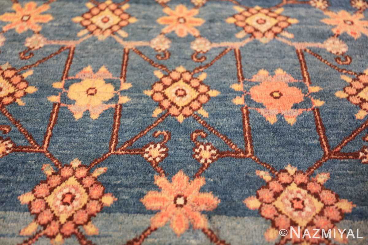antique blue background east turkestan khotan rug 49674 connection Nazmiyal
