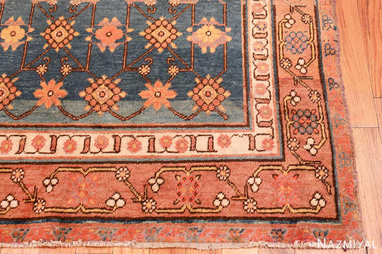 antique blue background east turkestan khotan rug 49674 corner Nazmiyal