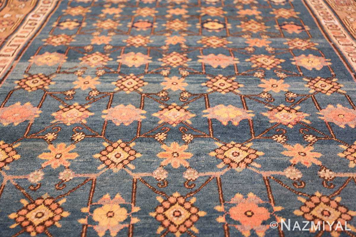 antique blue background east turkestan khotan rug 49674 field Nazmiyal