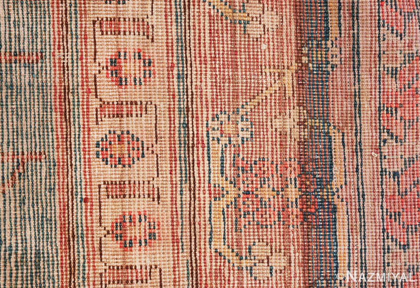antique blue background east turkestan khotan rug 49674 knots Nazmiyal
