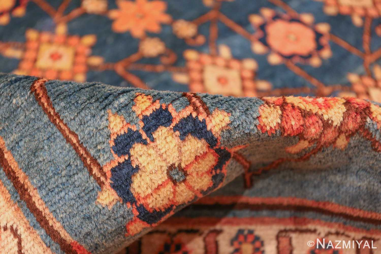 antique blue background east turkestan khotan rug 49674 pile Nazmiyal