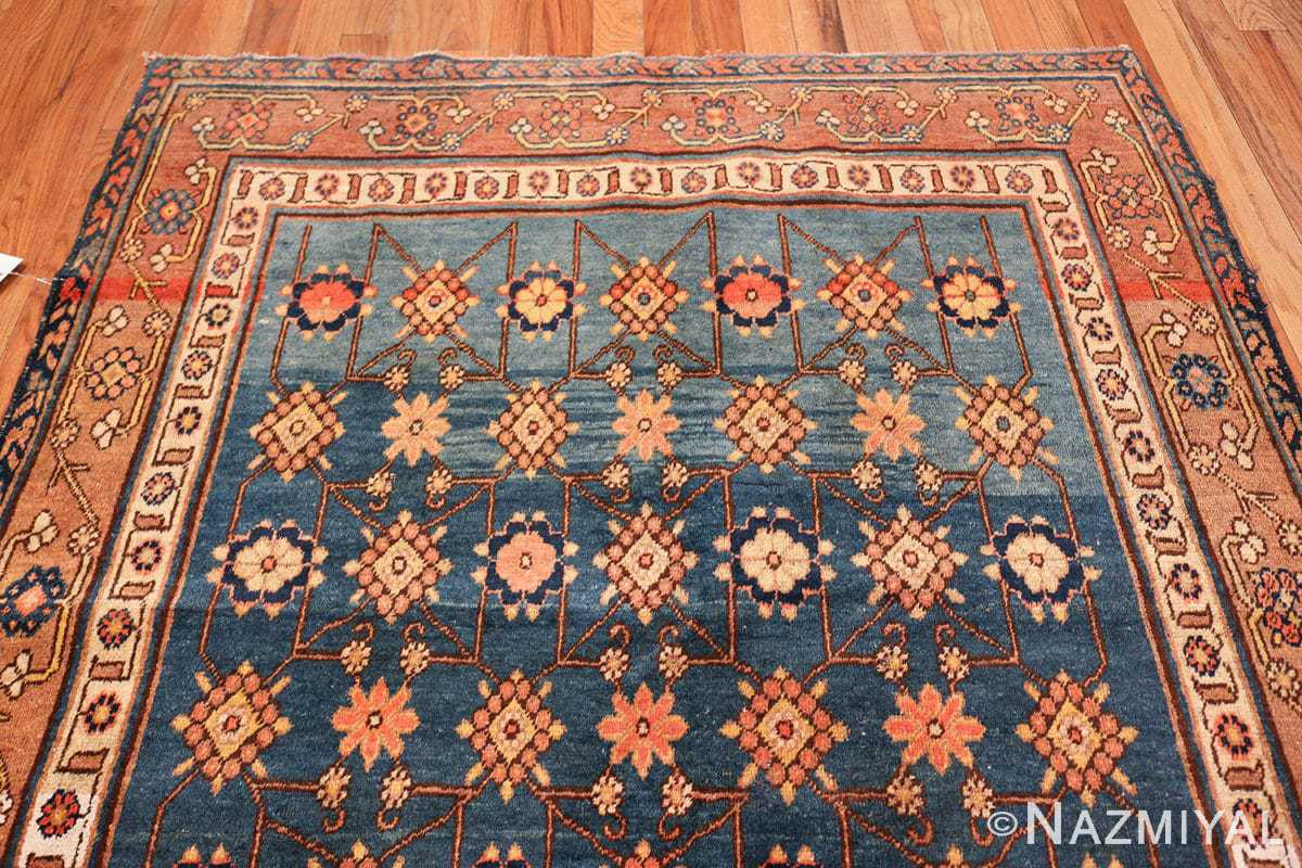 antique blue background east turkestan khotan rug 49674 top Nazmiyal