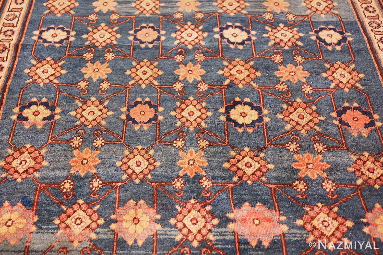 antique blue background east turkestan khotan rug 49674 upside Nazmiyal