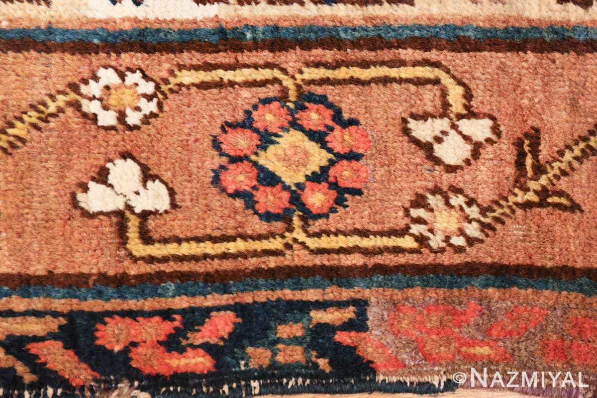 antique blue background east turkestan khotan rug 49674 white Nazmiyal