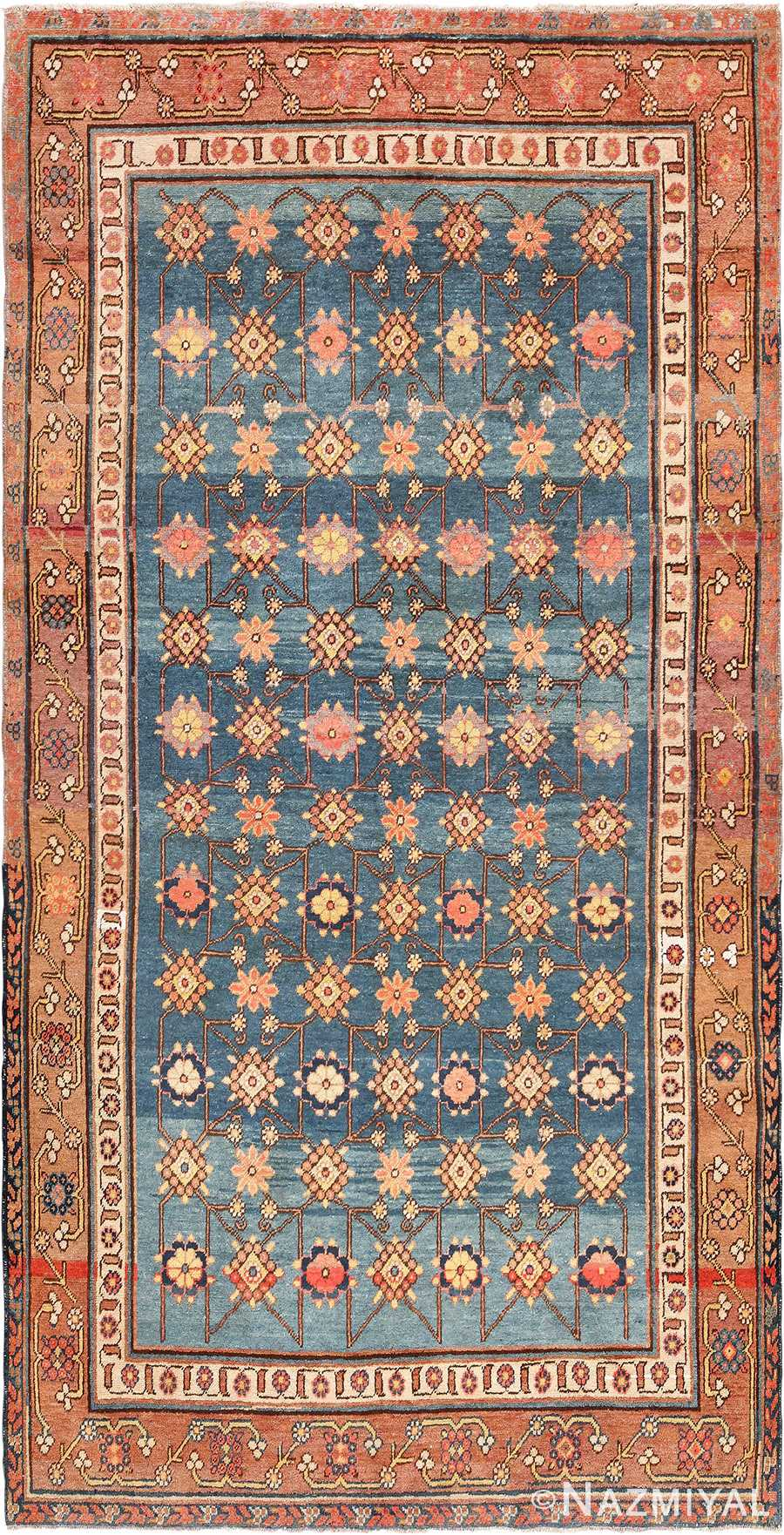 Antique Light Blue East Turkestan Khotan Rug 49674 Nazmiyal