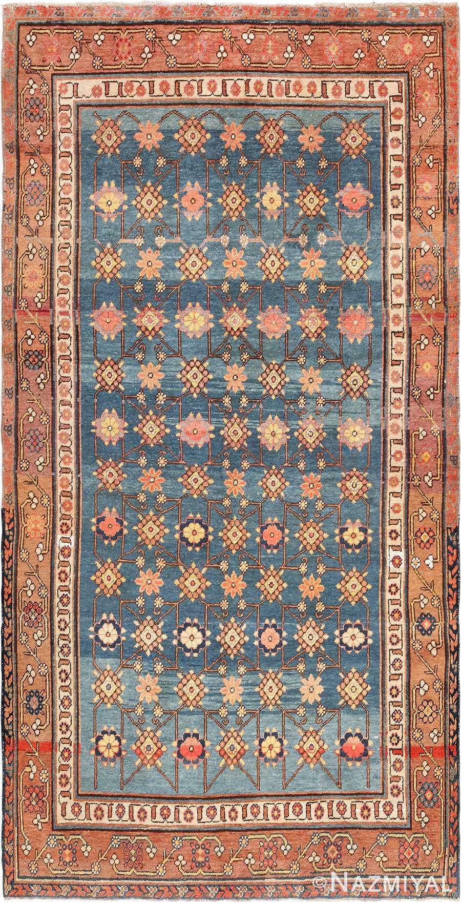 Antique Light Blue East Turkestan Khotan Rug 49674 Nazmiyal