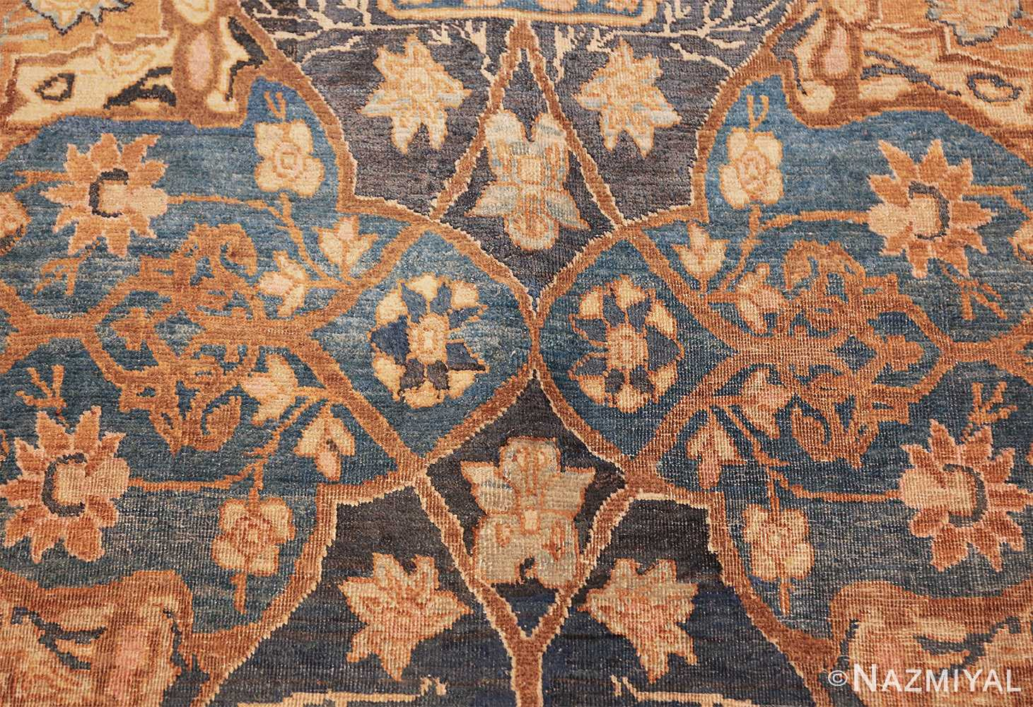 antique brown color persian khorassan rug 49708 blue Nazmiyal