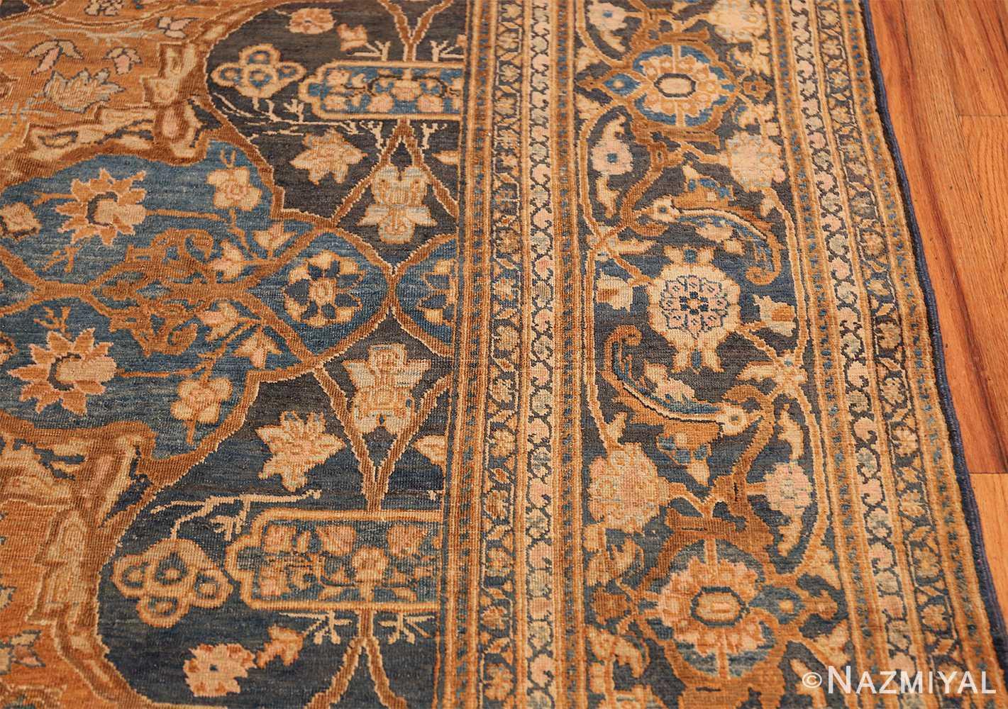 antique brown color persian khorassan rug 49708 border Nazmiyal