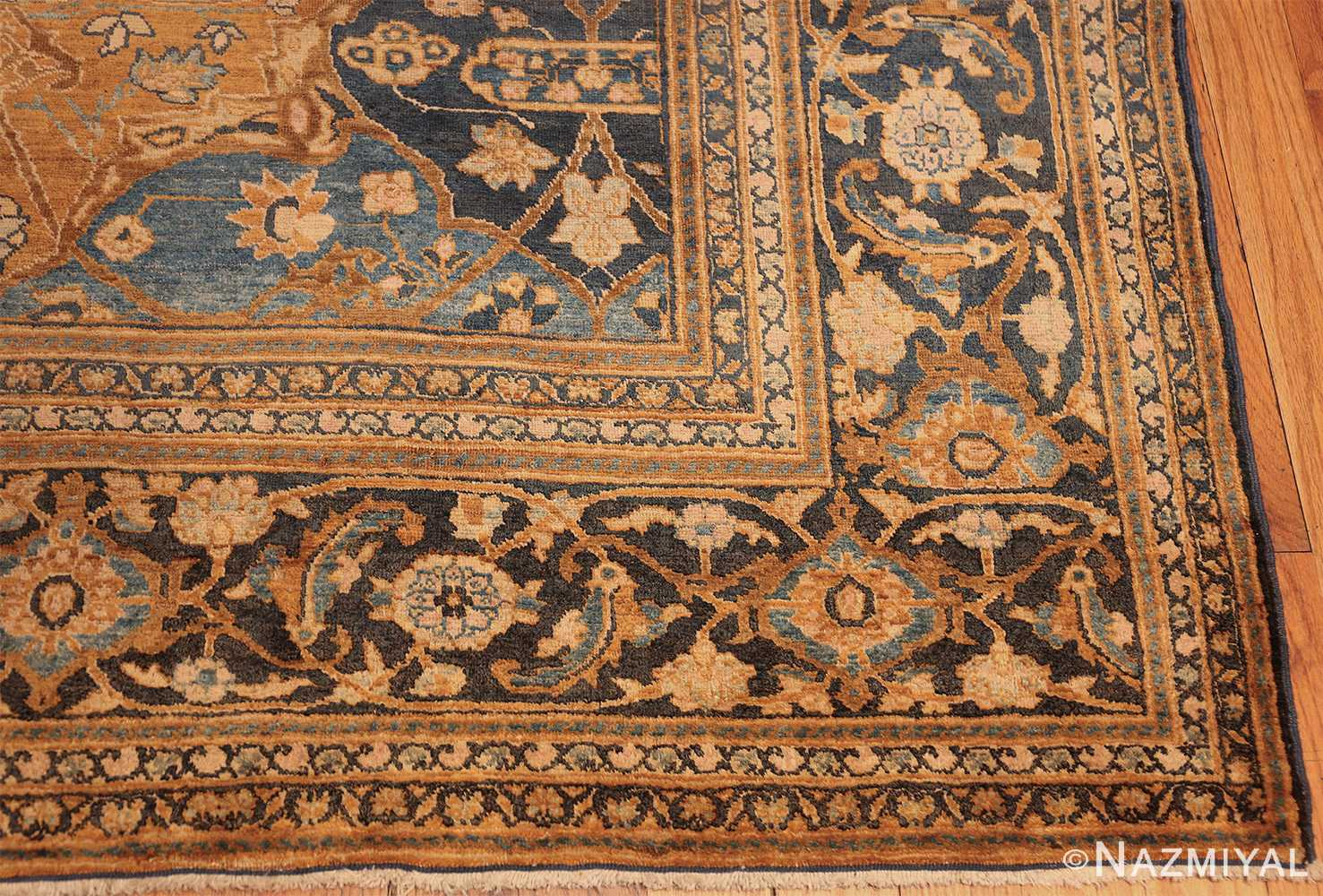 antique brown color persian khorassan rug 49708 corner Nazmiyal